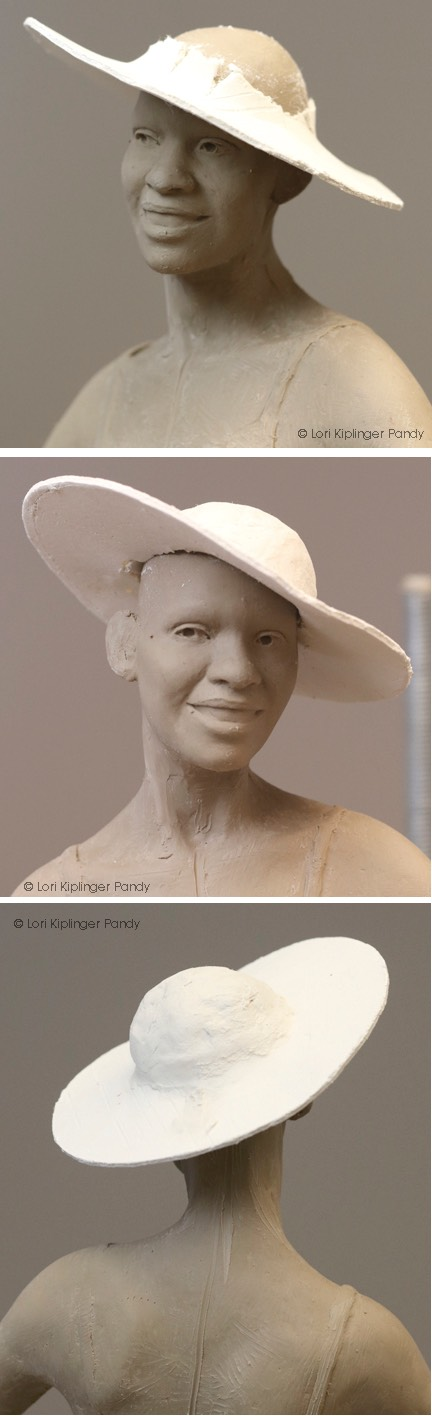 Creating a hat armature using paper clay ©Lori Kiplinger Pandy