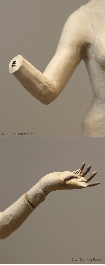 Photo of removable hand armature ©Lori Kiplinger Pandy