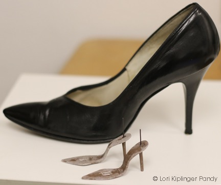 Photo showing the start of a shoe armature ©Lori Kiplinger Pandy