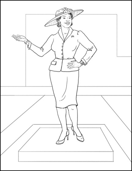 Additional pose sketches for Fannie Mae Duncan ©Lori Kiplinger Pandy