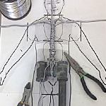 Memorial Sculpting for Grief Recovery 5...Building the armature